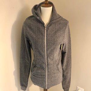 American Apparel grey zip up hoodie, S